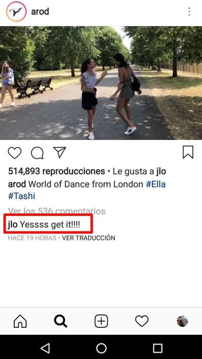 Reacción de Jennifer Lopez al baile de las hijas de Alex Rodriguez