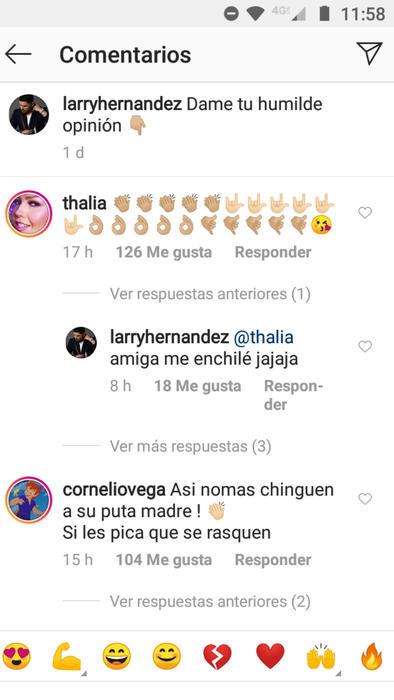 Reacciones al enojo de Larry Hernández