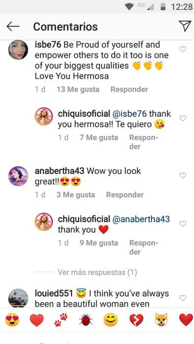 Reacciones a la foto de Chiquis Rivera