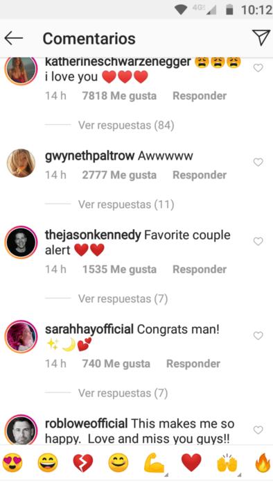 Reacciones al romance de Chris Pratt