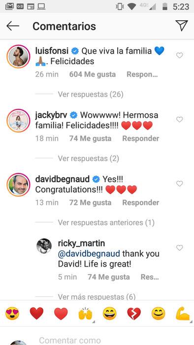 Reacciones a la llegada del cuarto hijo de Ricky Martin