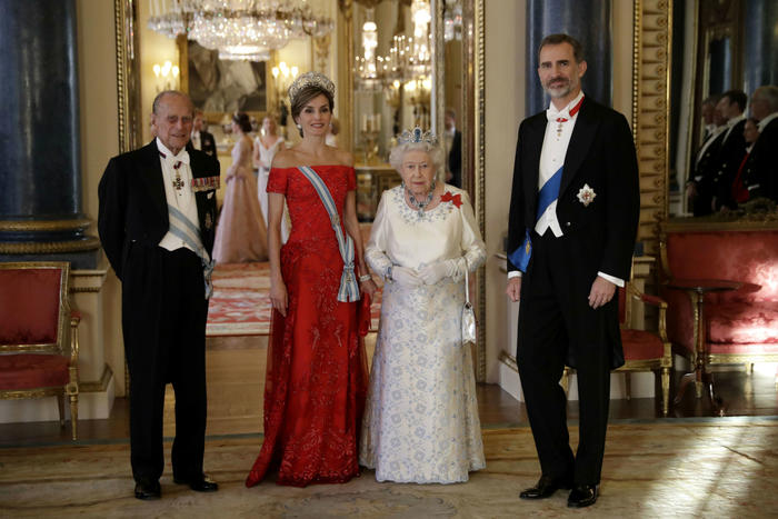 Reina Letizia de España durante su visita a Inglaterra