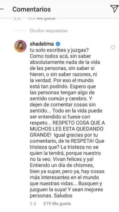 Respuesta de Shannon de Lima por críticas sobre bebé de James Rodríguez