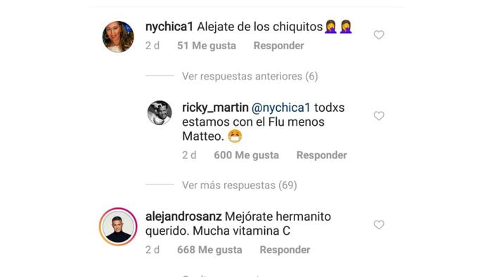 Ricky Martin revela que tiene influenza