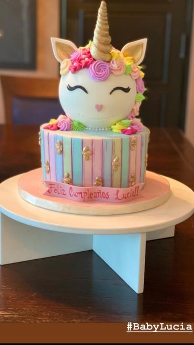 Ricky Martin presume del pastel de su hija Lucía