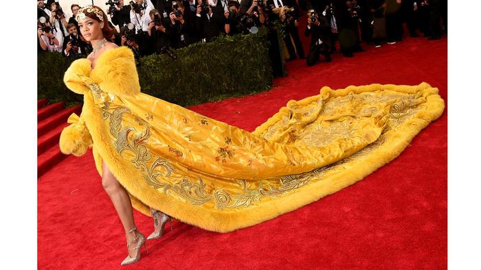 Rihanna en el vestido de la gala