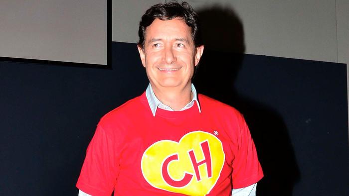 Roberto Gómez Fernández en la presentación de la caricatura del Chavo Animado