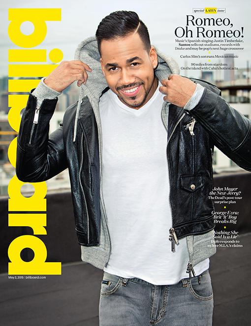 Portada de la Revista Billboard edición 12 con Romeo Santos