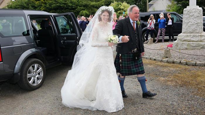 Rose Leslie el día de su boda