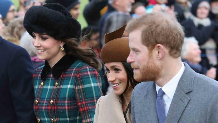 Megan Markle and the Royal Family Attend Christmas Service