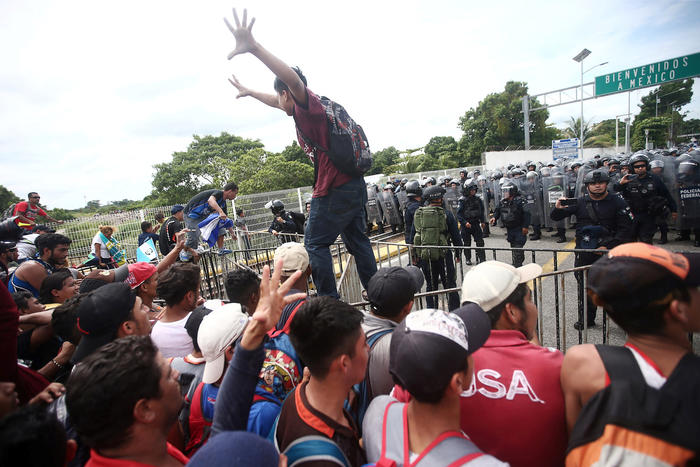Frontera de Guatemala con Hidalgo, México.