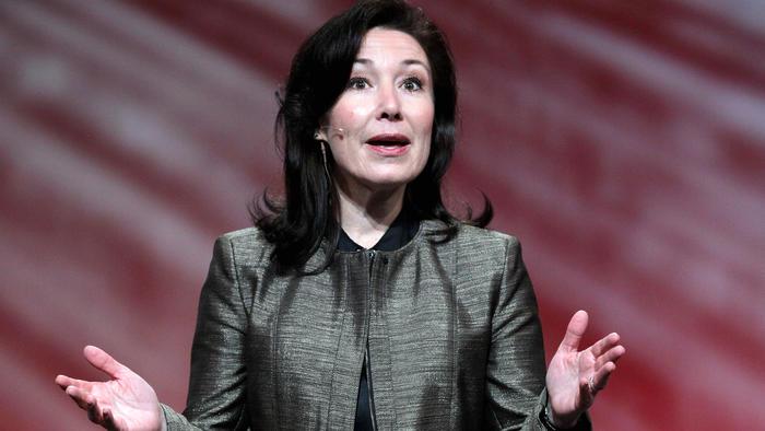 Safra Catz, CFO de Oracle en la conferencia Oracle Open World de 2010