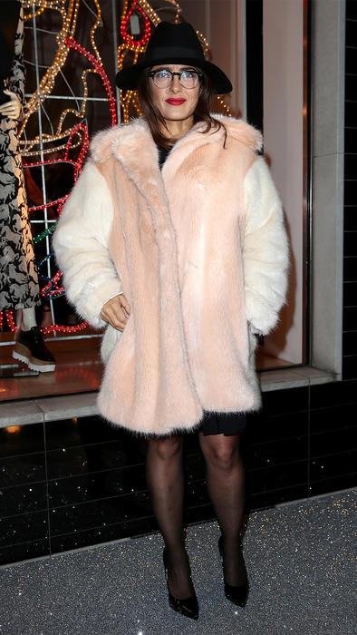 Salma Hayek para la fiesta de Navidad de Stella McCartney