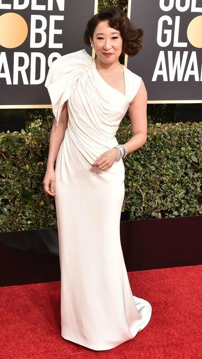 Sandra Oh en los Golden Globes