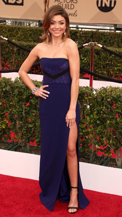 Sarah Hyland en la alfombra roja de SAG Awards 2016