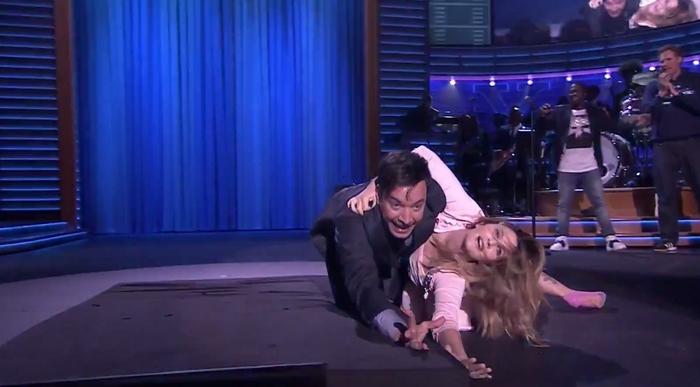 Jimmy Fallon y Drew Barrymore