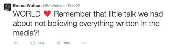 Twitter de Emma Watson.