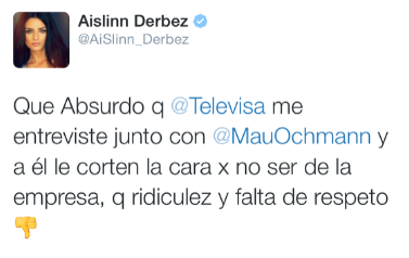 Twitter de Aislinn Derbez