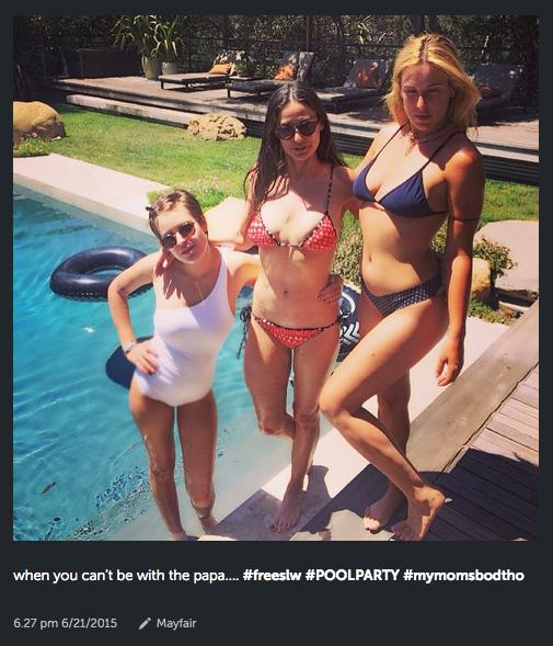 Demi Moore parece hermana de sus hijas al posar en bikini a sus 52 años