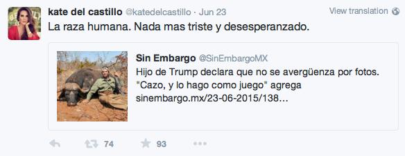 Twitt de Kate del Castillo