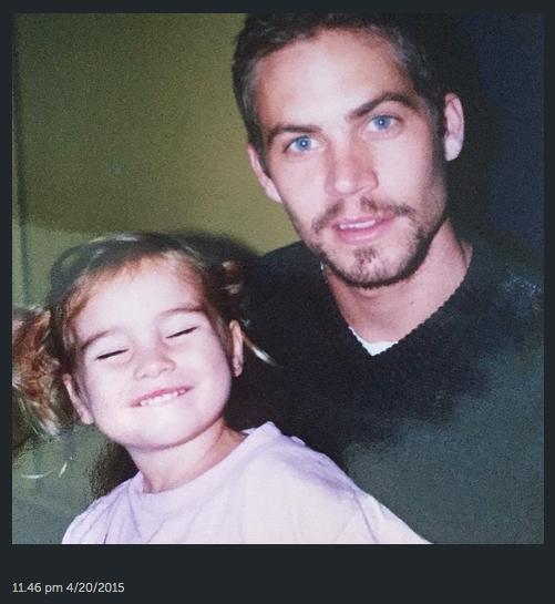Las mejores fotos del pasado de Paul Walker con su hija.