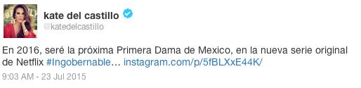 Kate del Castillo Twitter