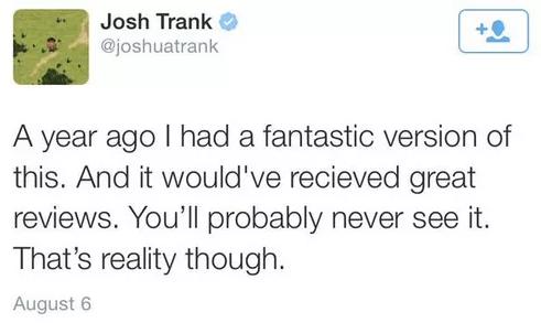 Josh Trank, criticó la película en su cuenta de Twitter