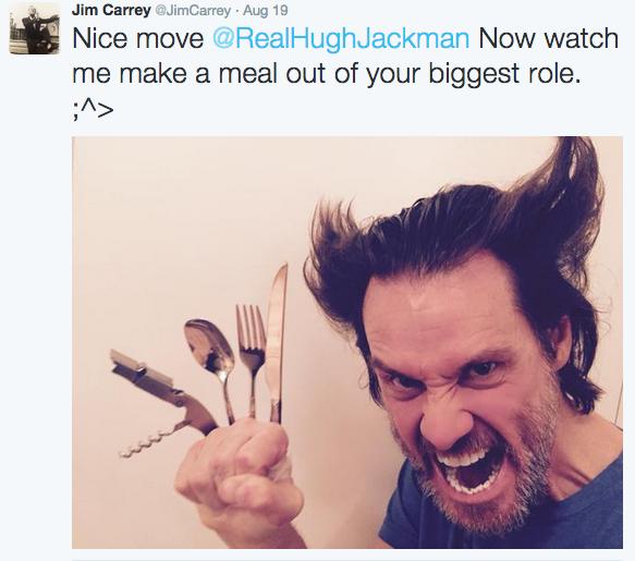 Hugh Jackman y Jim Carrey se enfrentan en las redes sociales