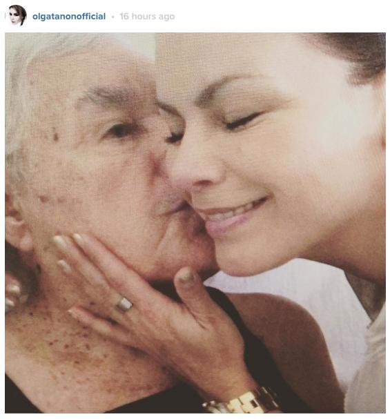 Olga Tañón y su padre