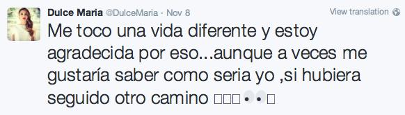 Twitter de Duce María