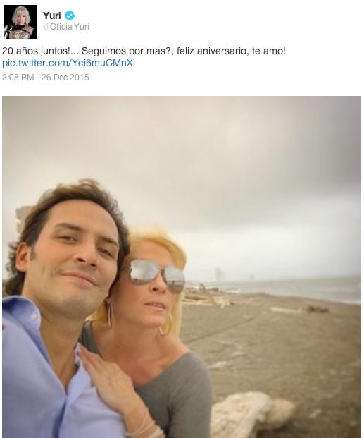 Yuri y su esposo Rodrigo Espinoza