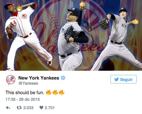 Twitter de los NY Yankees