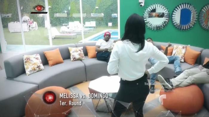 Melissa y Domingo discuten en la casa de Gran Hermano