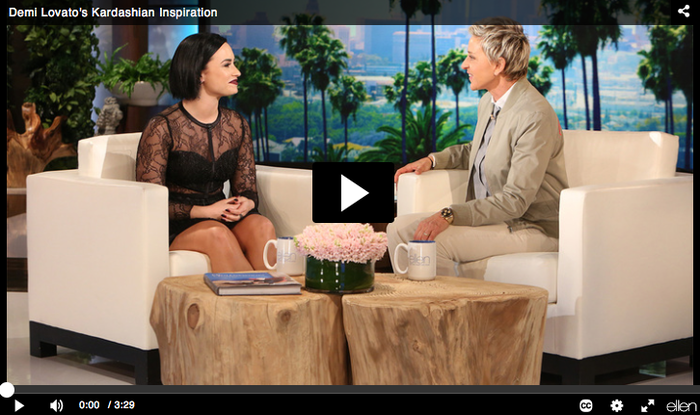 Demi Lovato en el programa de Ellen DeGeneres