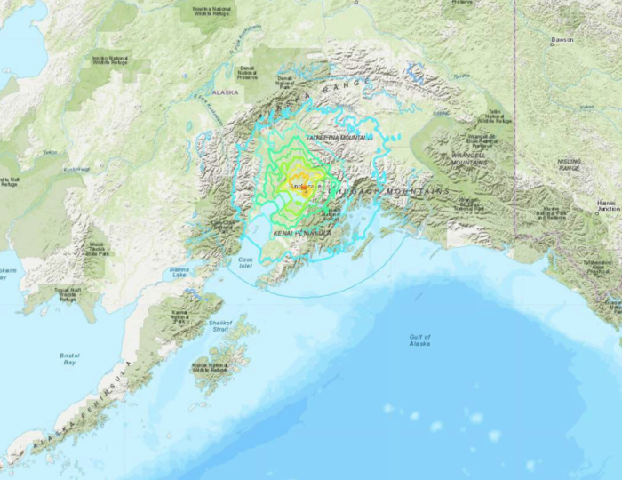 Terremoto frente a Anchorage.
