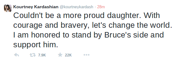 El tweet de Kourtney Kardashian a Bruce Jenner