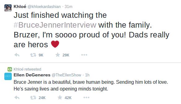 El tweet de Khloe Kardashian a Bruce Jenner