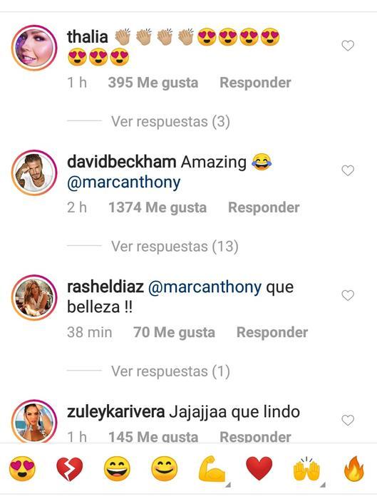 Reacciones a publicación de Marc Anthony