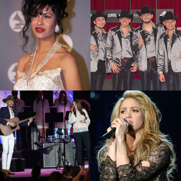 Selena Calibre 50 Jesse y Joy y Shakira Latin Billboards