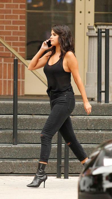 Selena Gomez en la grabación de 'The Big Short' en Nueva Orleáns