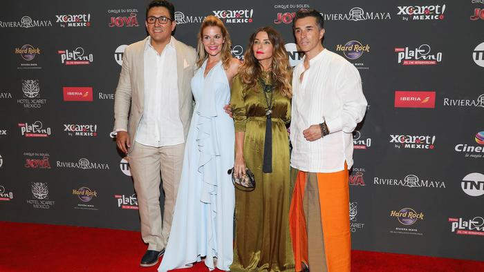 Sergio Mayer en la red carpet de los Premios Platino