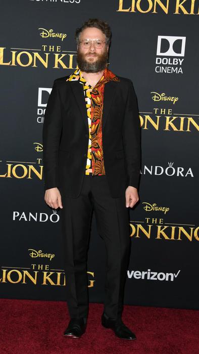 Seth Rogen alfombra roja de The Lion King
