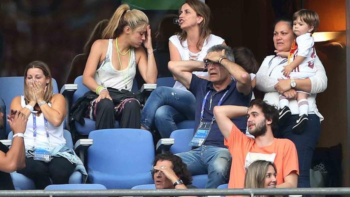 Shakira, Milan y Sasha en el estadio Saint-Denis, Francia