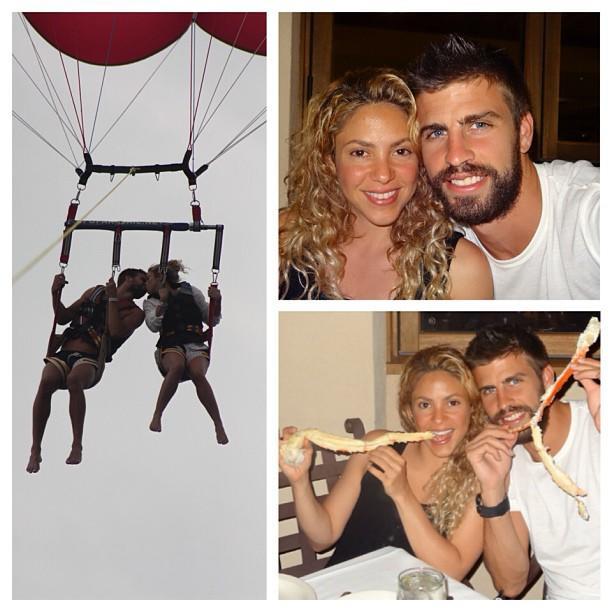 Shakira y Gerard Piqué en vacación