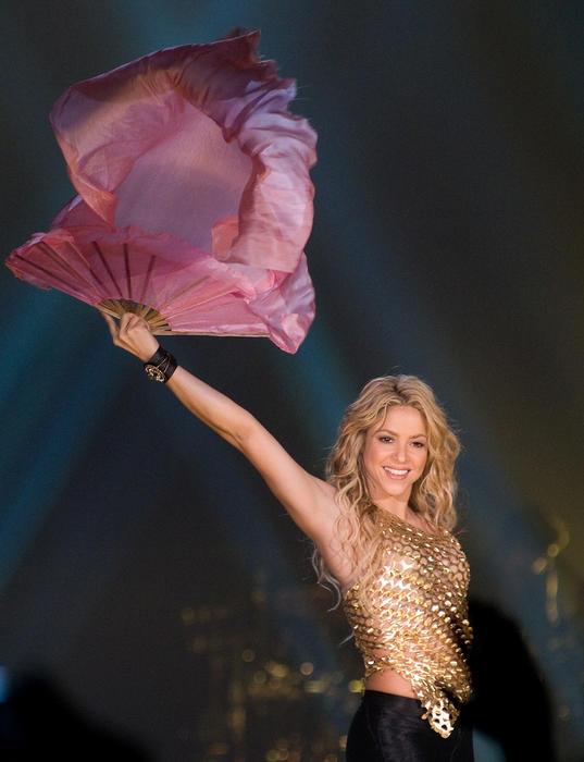 Shakira Performs in Concert in Barcelona