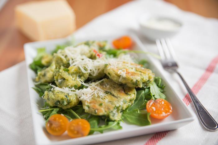 Ensalada con vegetales en tempura