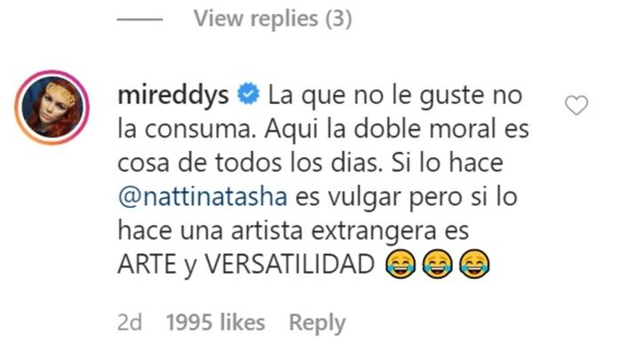 Mensaje de Mireddys González