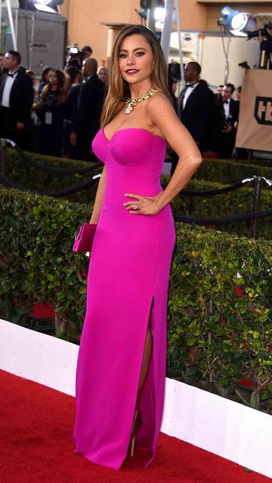 Sofía Vegara en la alfombra roja de SAG Awards 2016