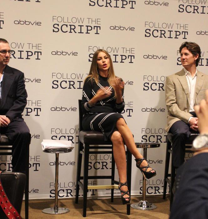 Sofía Vergara en conferencia de la campaña Follow the Script