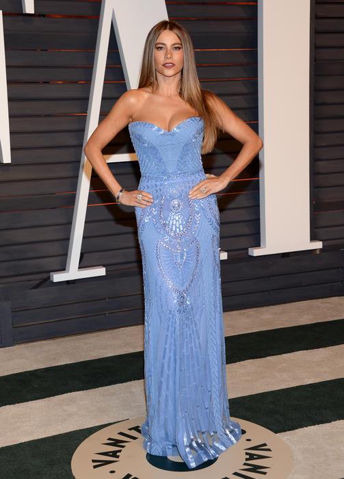 Sofía Vergara en la alfombra roja de los premios Oscar 2015